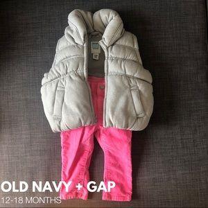 🎀Old Navy Vest + Gap Pants • EUC • 12-18M🎀